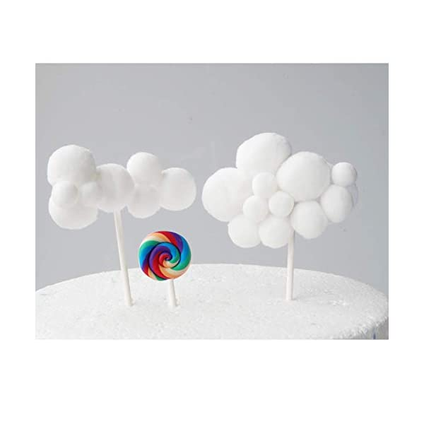 Cloud Rainbow And Unicorn Cake Toppers Kit (Set of 6)Kids Girls Birthday Cake Decoration Baby Shower Party Cake Decorations 9