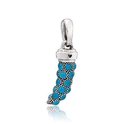 Pandora 397203EN168 Turquoise Italian Horn Necklace Pendant, Turquoise Enamel (Italian For Pandora Charms)
