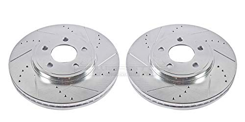 Power Stop AR8164XPR Front Evolution Drilled & Slotted Rotor Pair