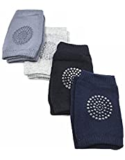 4 Pairs Baby Child Crawling Cotton Anti Slip Knee Pads Leg Warmer Safety Protective Cover Toddlers Learn to Socks Children Short Kneepads