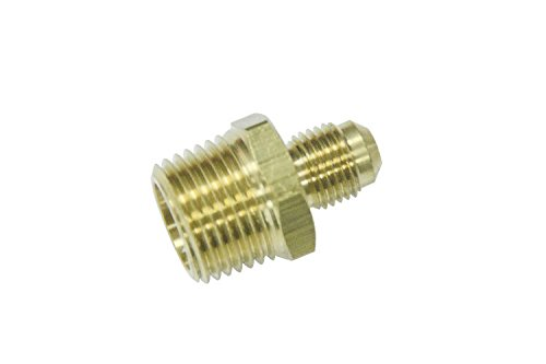 "Generic Brass Flare 5/16"" OD x 1/2"" Male NPT Connector Tube"