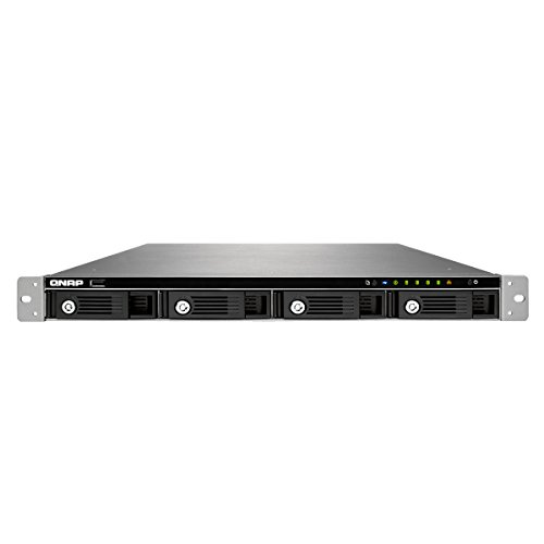 QNAP TS-453U 4-bay 1U iSCSI NAS, Intel 2.0GHz Quad Core CPU with 4GB RAM, 2.5