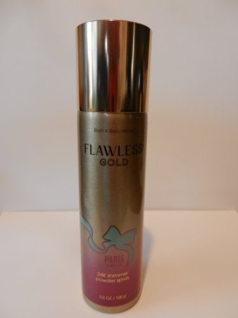 Bath and Body Works New Flawless Gold Paris Amour 24K Shimmer Powder Spray by Vetrarian