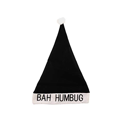 Christmas Shop Bah Humbug Hat (One Size) (Black/White) -