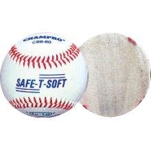 Champro Safe-T-Soft Baseball (White, 9-Inch, 1 Dozen)