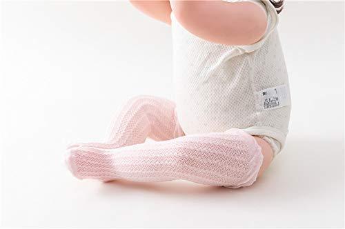 LACOFIA 6 Pares de calcetines largos de altos para beb/é ni/ñas Medias de algod/ón de punto princesa infantiles ni/ña