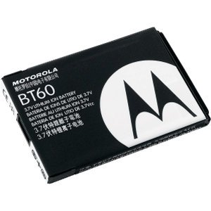 OEM Motorola Cell Phone Battery BT60 /SNN5744 Li Ion 1000mAh for cell phone - Non-Retail Packaging - (Motorola Phone Q)