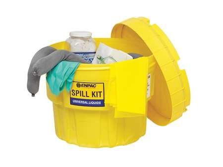 ENPAC 1322-YE 36 Piece Oil Spill 20 Gallon Salvage Drum Kit