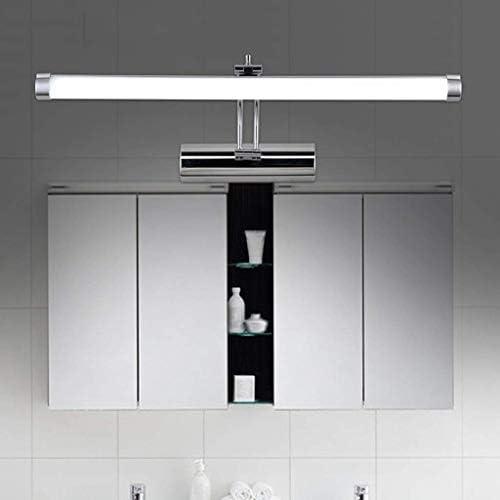 HIZLJJ LED洗面化粧台照明器具クロムステンレス鋼メイクアップウォールライト防水ミラーライト (Size : 53cm)