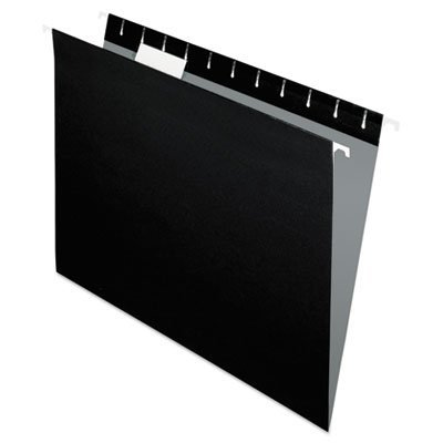Hanging File Folders, 1/5 Tab, Letter, Black, 25/Box, Sold as 25 Each