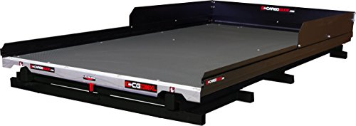 CargoGlide CG2200XL-6347-LP-CGL Low Profile Slide Out Truck Bed Tray 2200 lb Capacity 100% Extension 22 Bearings Alum Tie-Down Rails Plywood Deck Fits Suburban/Yukon XL Models