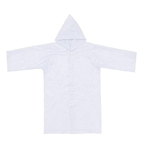 Tpingfe Portable Reusable Raincoats Children Rain Ponchos For 6-12 Years Old, 1PC (Clear) by Tpingfe (Image #3)