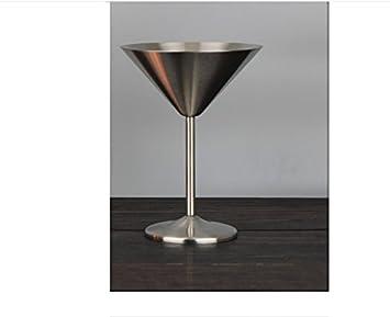 WUTONG304 Edelstahl Cocktail Glas Dreieck Becher Margarita Glas Champagner Glas Bar Cocktailglas