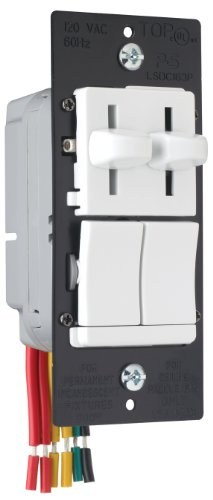 Legrand - Pass & Seymour LSDC163PWV Dual Control Slide Preset Single Pole Dimmer, White