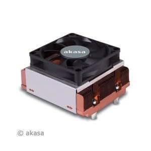 Akasa AK-384 Intel Cooler - Ventilador de PC (Socket J (LGA 771), 46,5 Db, Cobre, 90 x 83 x 28,21 mm, 12V, Twin Ball Bearing)