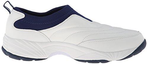 Probet Männer M3851 Wash & Wear Slip-On Sneaker Weiß / Navy