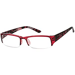 The New Orleans +2.25 Red Snake Reading Glasses
