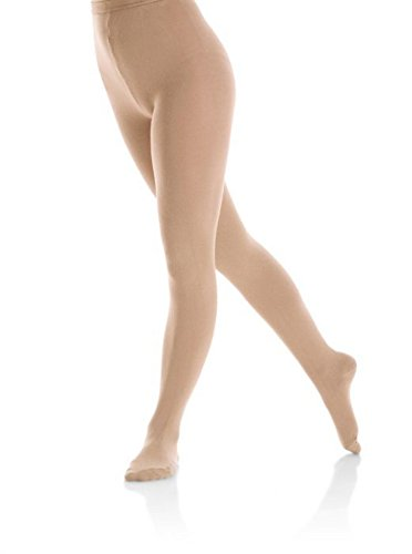Mondor 3348 Footed INNERGY Figure Skating Tights (Lt. Tan, Size S-P)