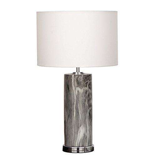 Urban Designs 7772706 Manhattan Column Ceramic Table Lamp Grey by Urban Designs