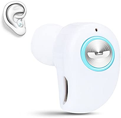 Upgrade Version Mini Invisible Bluetooth Earbud,V4.1 Stereo Wireless Bluetooth Earphone with Built-in Mic,Sports Noise Cancelling in-Ear Headphone for iPhone Samsung and Other Android Phones