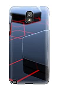 Galaxy Note 3 Case Slim [ultra Fit] Obsidian Hexagons Protective Case Cover