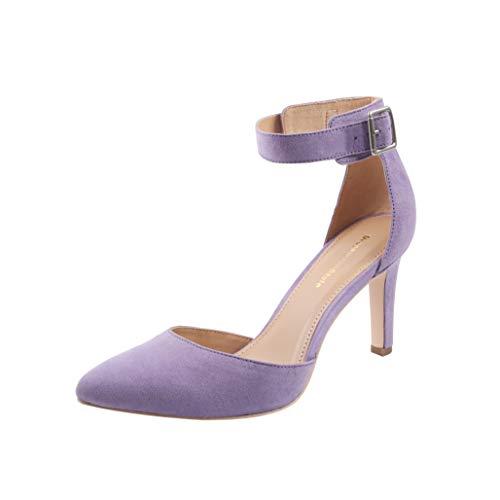 (Women's Closed Toe High Heel Dress Pumps (8, Purple))