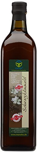 manako ® Schwarzkümmelöl pur, 100 % naturrein, kaltgepresst, 1000 ml