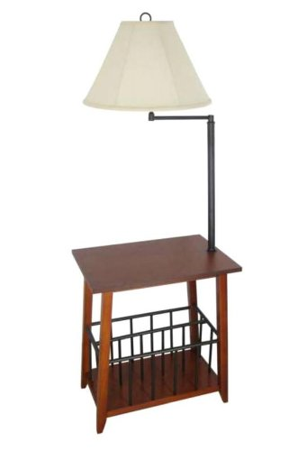 Oak Magazine Floor Lamp - 208 Fryar Design LTD Berkley Magazine Rack Lamp