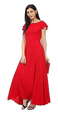 Laycra Women's Pleated Maxi Dress
