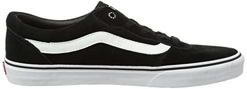 Vans Milton - Zapatillas para hombre, color Negro/Blanco