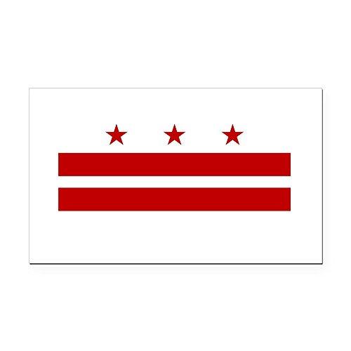 CafePress - Washington DC Flag Rectangle Car Magnet - Rectangle Car Magnet, Magnetic Bumper Sticker (Magnet Republican Rectangle)