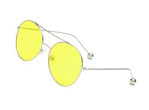 nuit air lunettes en soleil Silver UV400 protection FlowerKui de Mode plein de unisexe lunettes jaune de lunettes conduite de W6F0Svfqw