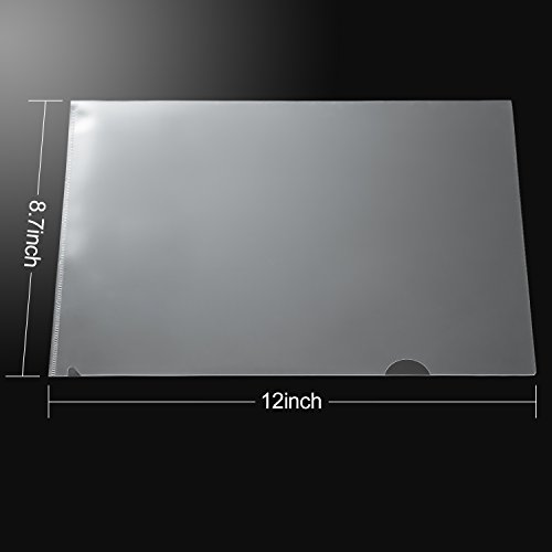 A4 Bememo 24 Pack Clear Transparent Document Folder Copy Safe Project Pockets