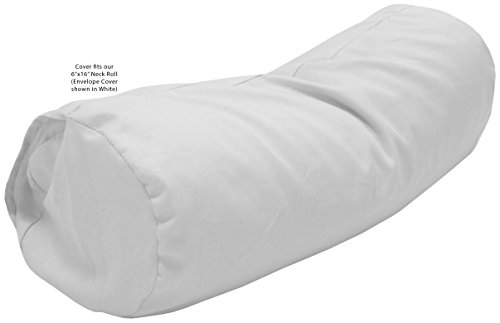Bean Products Neck Roll Pillowcase - Enclosed Sleeve Style - Wheat Dreamz -100% Certified Organic - Made in USA - Organic Sateen White