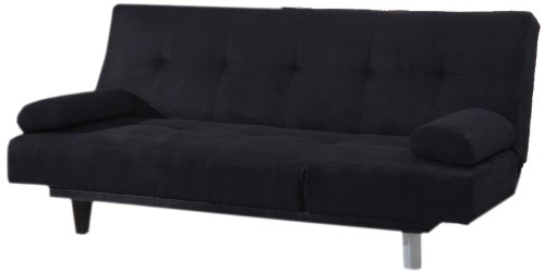Acme 05855W-BK Cybil Adjustable Sofa Set with Two Pillows, Black by ACME