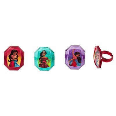 Elena of Avalor Noble Heart Cupcake Rings - 24 pc
