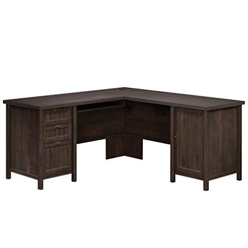 (Sauder 422982 Costa L-Desk, Coffee Oak Finish)