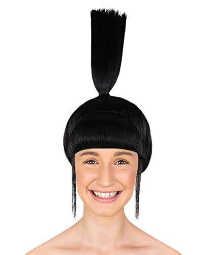 Halloween Party Online Agnes Wig, Black Adult -