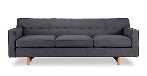 Kardiel Kennedy Mid-Century Modern Classic Sofa, Urban Ink Vintage Twill For Sale