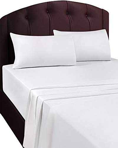 Utopia Bedding Soft Brushed Microfiber Twin Flat Sheet, White