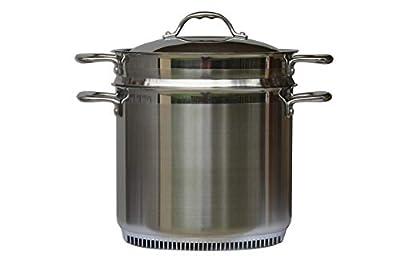 Turbo Pot Stainless Steel 9.5 Qt. Multi-Pot/Steamer & Pasta Cooker