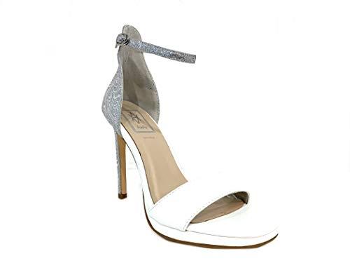 Plateau Woman Sandal Sandalo Wedding Sposa High Matrimonio Elegant Ceremony Scarpe Alto Heel Bride White Hollywood Italy Donna Particolare Elegante Sandali Cerimonia Shoes Bianco Tacco Vegan xawR0qTrZa