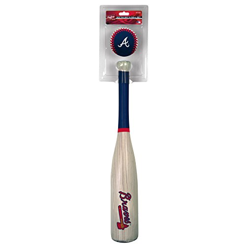 Rawlings MLB Atlanta Braves Grandslam Bat and Ball, Navy