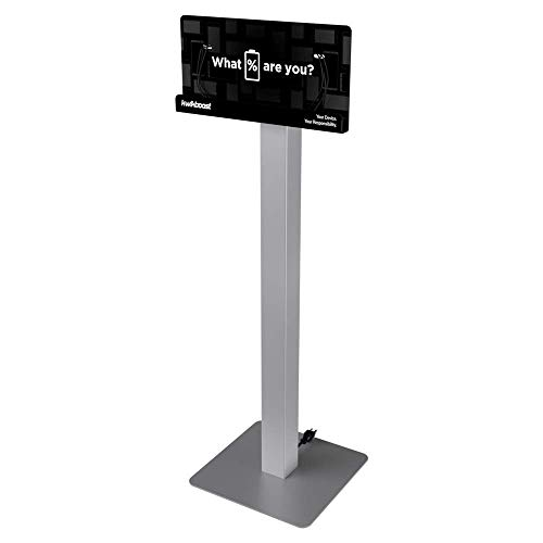 Floor Stand Cell Phone Charging Station Kiosk Tower Dock KwikBoost | Made in The USA | Multi-Device High Speed Cables 8 Devices, Universal Compatibility, M8 (Basic)