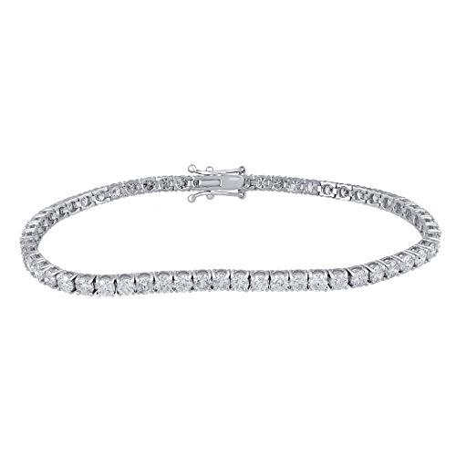 IGI Certified 6.00 Carat Natural Diamond Bracelet 14K White Gold (I-J Color, I1-I2 Clarity) Diamond Tennis Bracelet for…