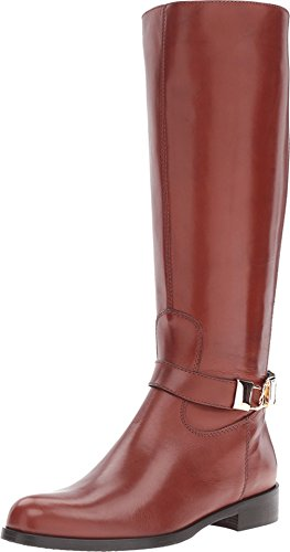 Massimo Matteo Womens Flat Calf Locket Boot Cuoio