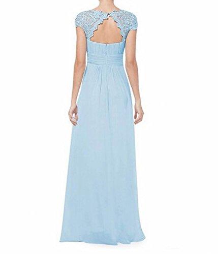 Líder de la belleza Mujer parte trasera abierta Ruched Busto de vestido de fiesta Azul