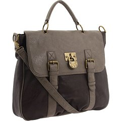 Steve Madden Berkely Top Handle Messenger Bag Brown / Grey