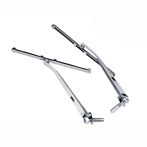 (Windshield Wiper, Model Car Left & Right Metal Windshield Wipers for 1/10 Traxxas TRX4 Land Rover Decoration lkoezi a Pair of Wipers (Silver))