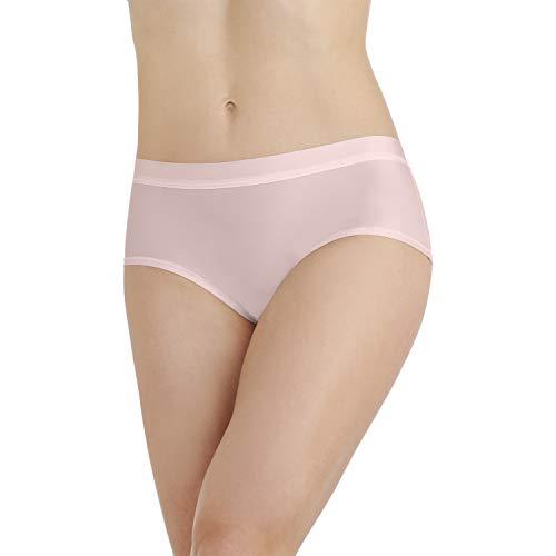 (Vanity Fair Women's Light and Luxurious Hipster Panty 18195, Sheer Quartz, Small/5)